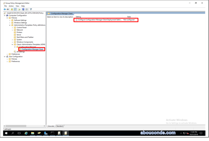 Deploy the SCCM 2016 Client | Abou Conde's Blog