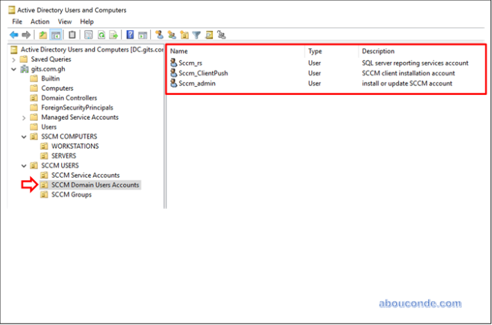 Create Service and User Accounts – SCCM 2016 | Abou Conde's Blog