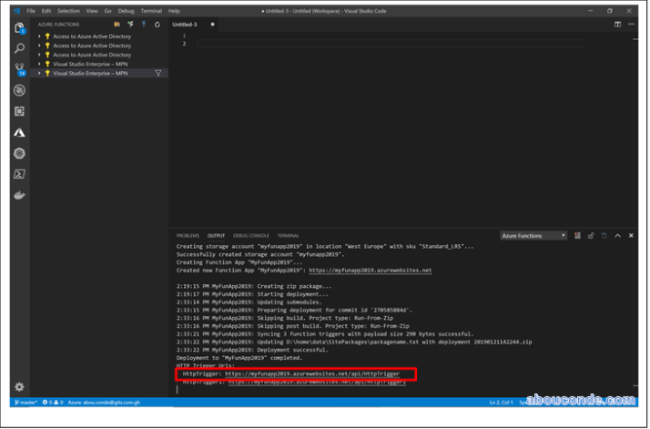 Create function using Visual Studio Code | Abou Conde's Blog