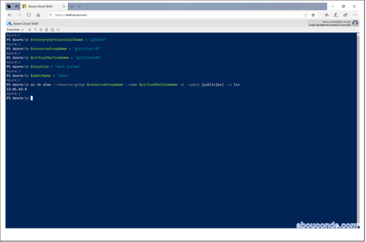Restoring Linux VMs with Azure CLI   Abou Conde's Blog