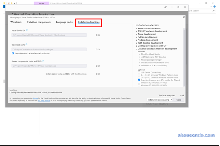 Downloading and Installing Visual Studio 2019   Abou Conde's