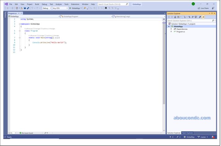 Create a local Git Repository in Visual Studio 2019 | Abou