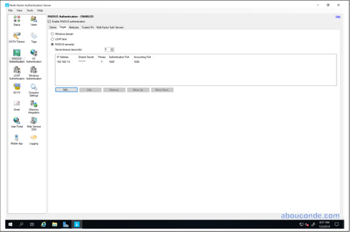 Implementing RADIUS Authentication with Remote Desktop